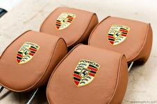 Porsche Cayenne перетяжка подголовников