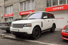 Range Rover - покраска штатных дисков черный лак