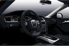 перетяжка салона Audi A5 кожа, алькантара