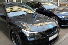 BMW 550i с дисками Hamann Anniversary-I и карбоновым капотом Vorsteiner