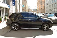 Lexus RX хромированные дуги и пороги Schiessler диски Oxigin вид сбоку