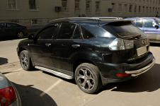 Lexus RX хромированные защитные дуги для заднего бампера Schiessler