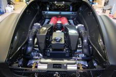 Ferrari F430 TuNero Novitec Rosso двигатель