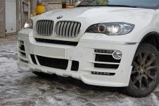 BMW X6 передний бампер со светодиодной подсветкой Hamann