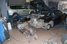 установка выхлопной системы Hamann на Audi R8