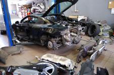 Audi R8 установка выпускной системы от фирмы Hamann