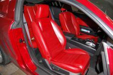 Ford Mustang перешивка салона переднее сиденье